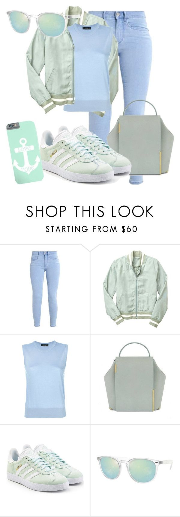 """Jubilee"" by xokissxs ❤ liked on Polyvore featuring Gap, Dolce&Gabbana, Onesixone and adidas Originals"