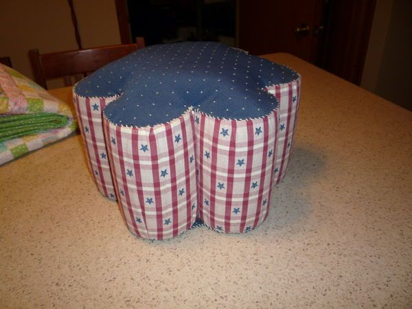 Juice Can Foot Stool Made With 7 Large Tomato Juice Cans