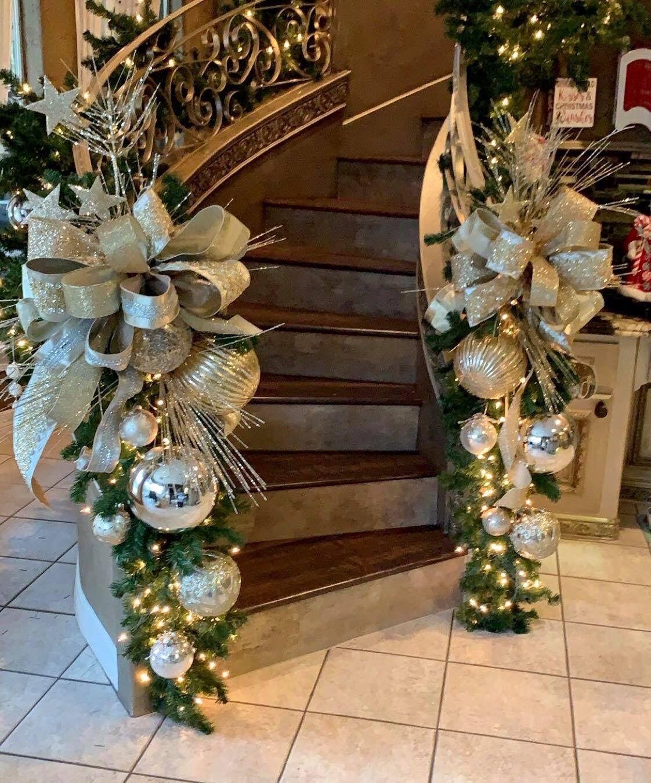 Pin By Promar Sales International On Christmas Decorations Ideas Elegant Christmas Trees Diy Christmas Garland Christmas Staircase