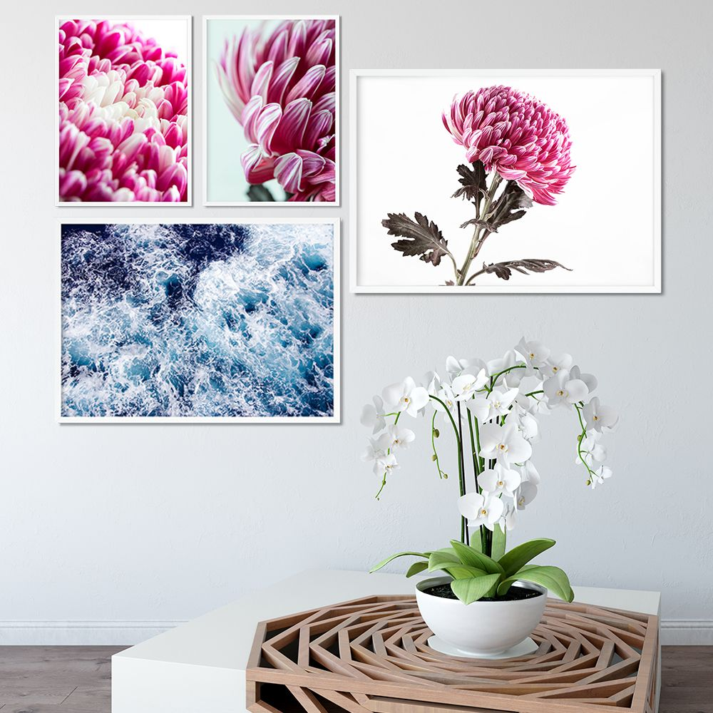 Printable, Floral Print, Pink, Gift For Her, Downloadable Prints ...
