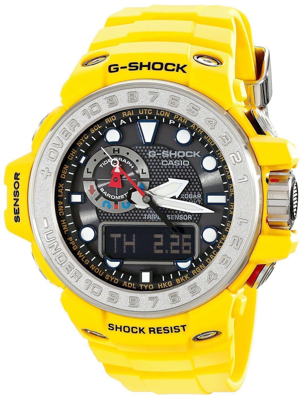 55d539f5ba6 Casio Mens G SHOCK GULFMASTER Analog-Digital Sport Solar Watch GWN-1000-9A