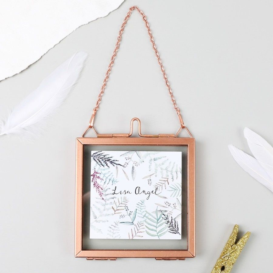 Small Square Hanging Copper Photo Frame | Copper photo frame ...