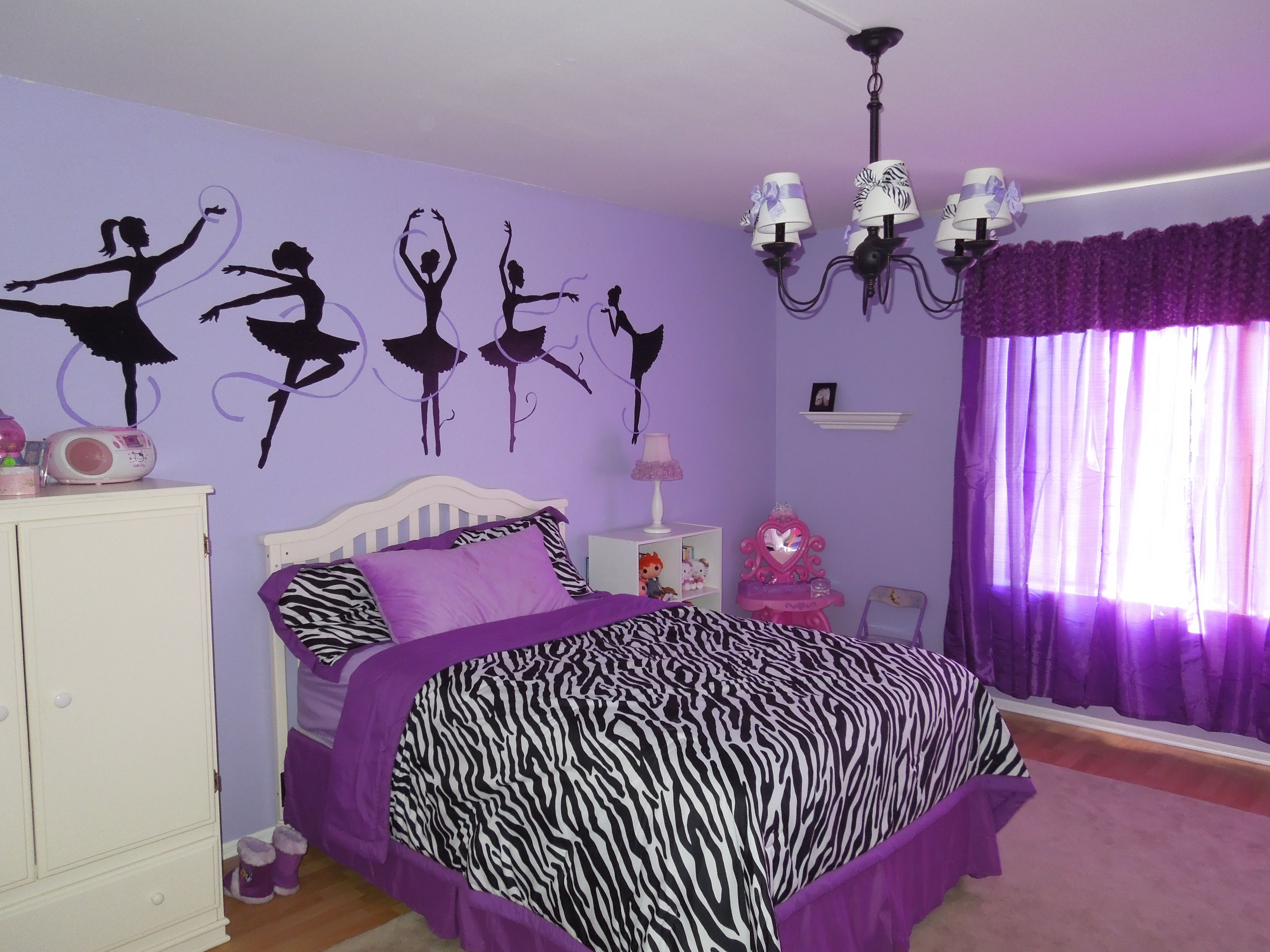 Purple And Zebra Bedroom Ideas Part - 30: Look How Pretty This Is! I Love That The Silhouettes Go So Nicely With The  · Zebra BedroomsGirls BedroomKid BedroomsBedroom IdeasZebra Girls Rooms Purple ...