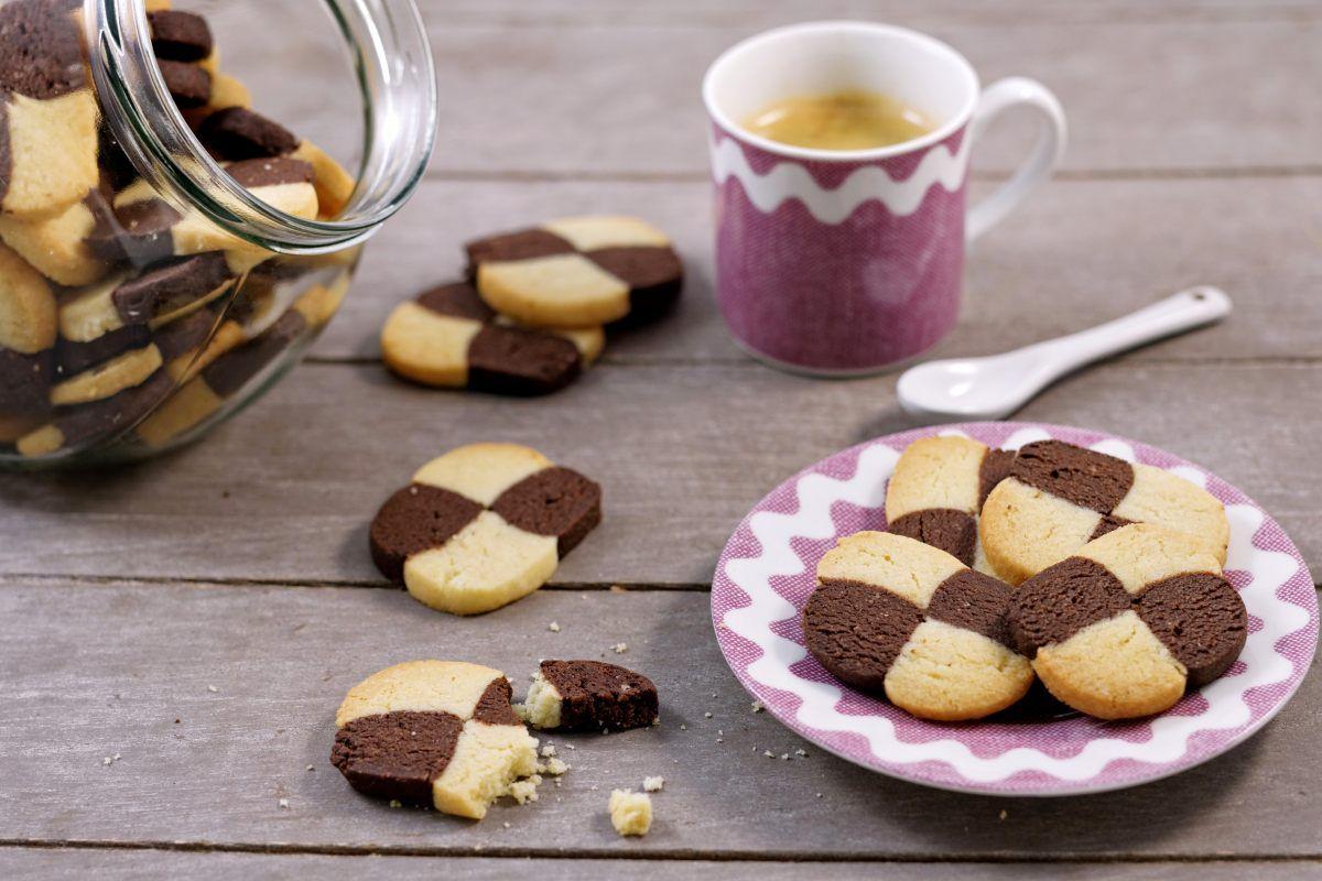 Recette de biscuits damier choco-amande
