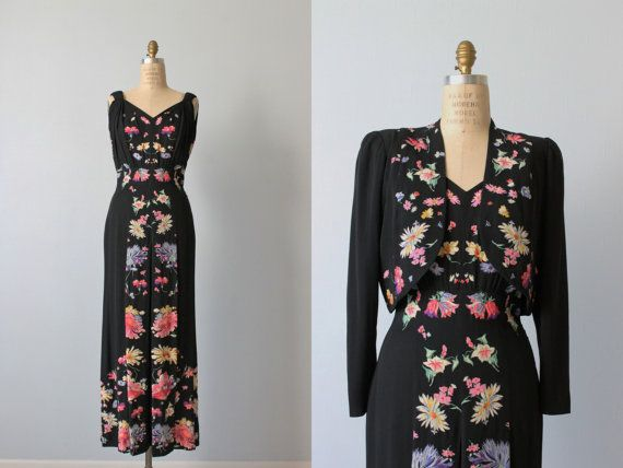 Hey, I found this really awesome Etsy listing at https://www.etsy.com/listing/207511959/vintage-1940s-dress-40s-evening-dress