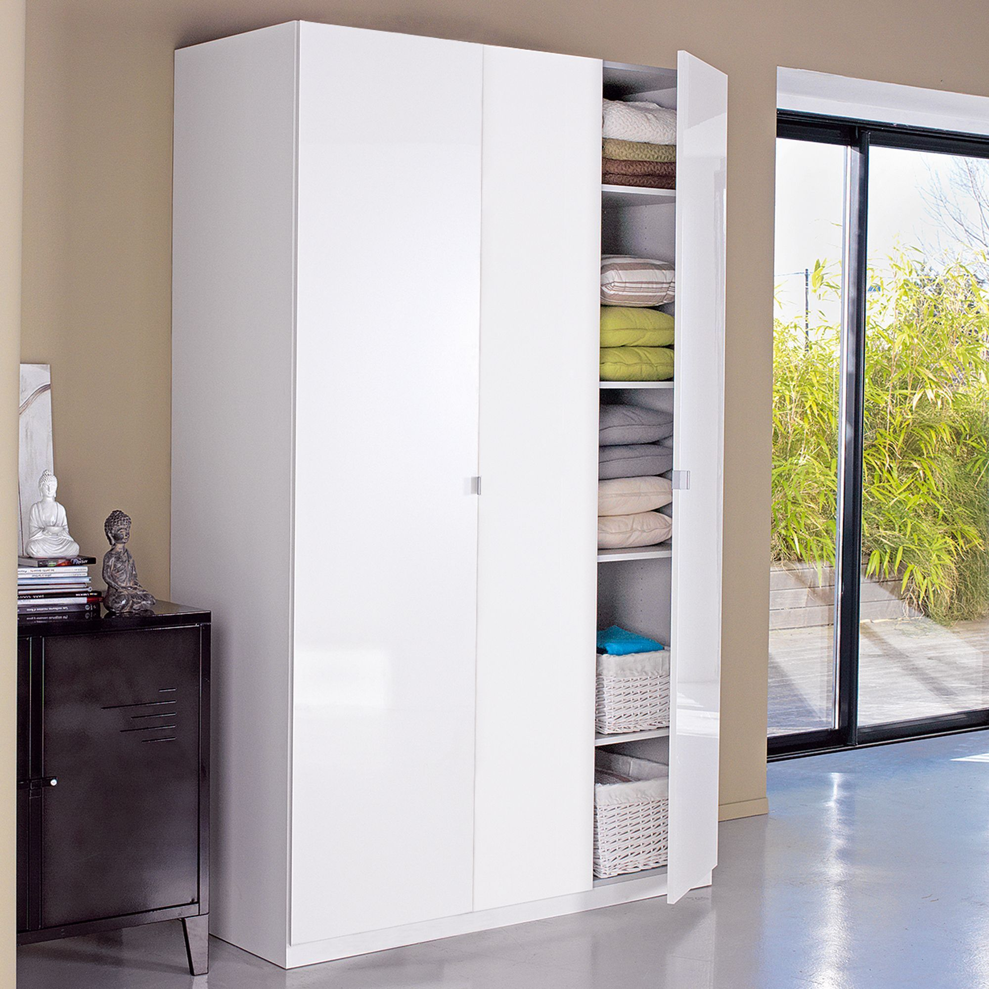 Alinea Dressing Altea Armoire Dressing 3 Portes Battantes 150cm Blanc Dressing Altea