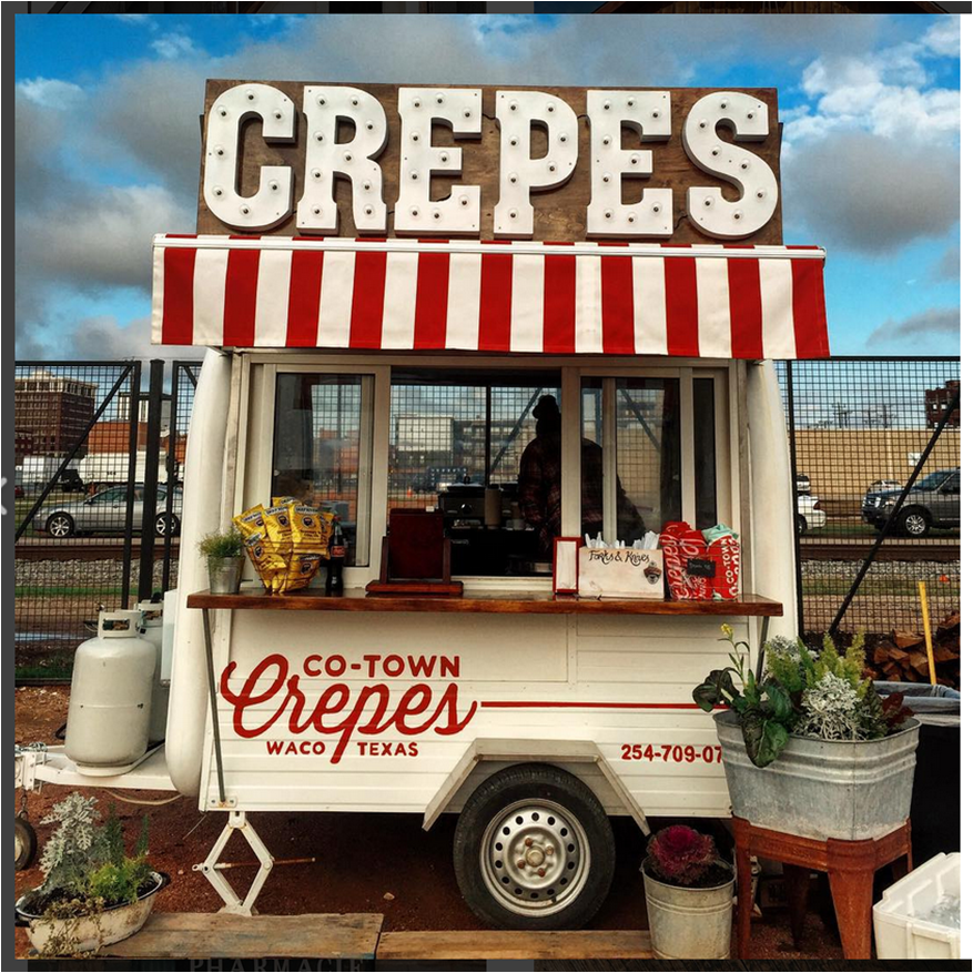 Food Design Ideas: Co-Town Crepes--such A Cute Food Trailer. Waco Texas
