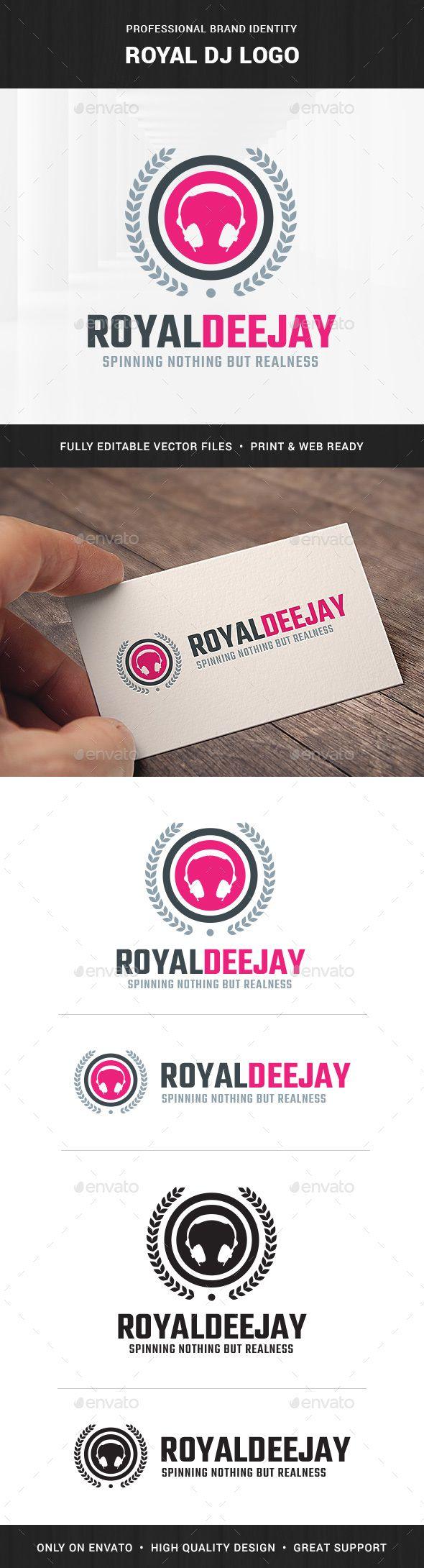 Royal DJ Logo Template v2   Dj logo, Logo templates and Template