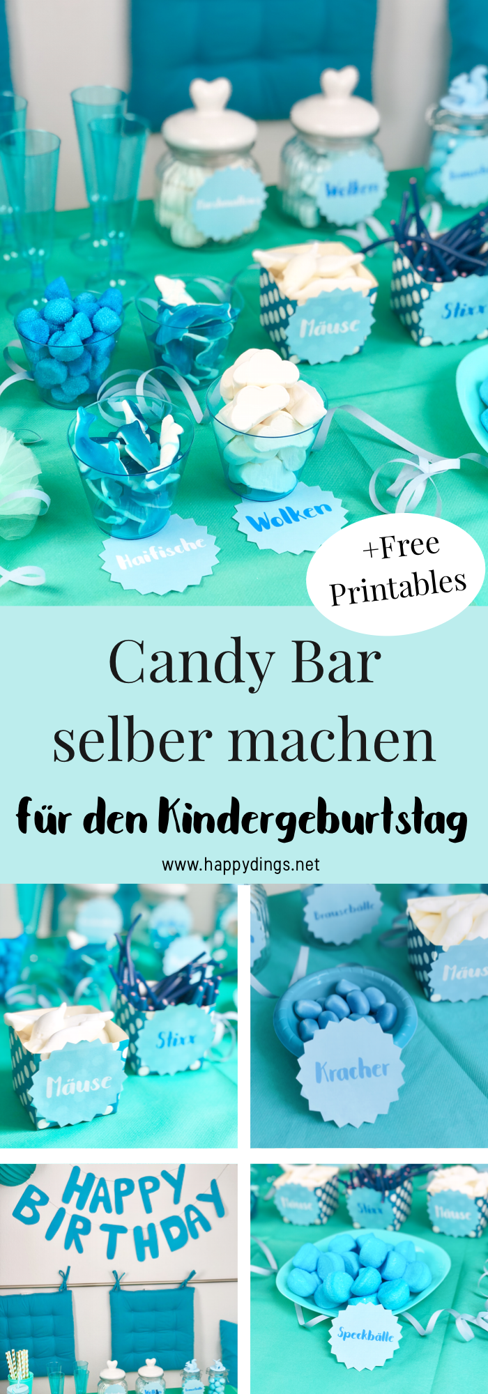 Candy Bar selber machen zur Hochzeit oder zum Geburtstag