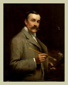 Joseph Farquharson ~ Born Edinburgh,  May 4, 1846; died  at Finzean, Aberdeenshire, April 15, 1935 ~  Born in Edinburgh, Scotland in 1846, Joseph Farquharson combined a long and prolific career as a painter with his inherited role as a Scottish laird. He painted in both oils and water colors.