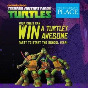 The Children's Place Teenage Mutant Ninja Turtles Party Sweepstakes