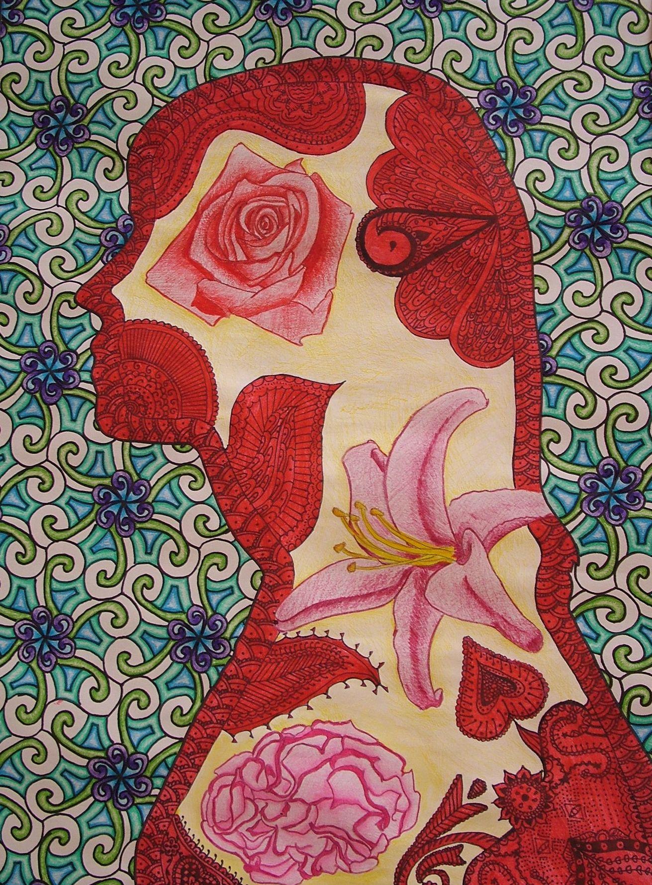 Geometry Art Projects High School Ohs project 1 silhouette   Teacher ... for Silhouette Art Projects High School  173lyp