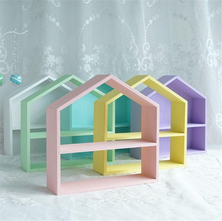 מדפי אחסון מדפי קיר חדר ילדים עץ מדף אחסון מדפי קיר עץ