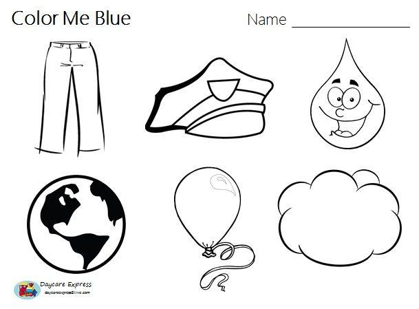 Color Blue Blue Worksheet Blue Craft – Daycare Worksheets