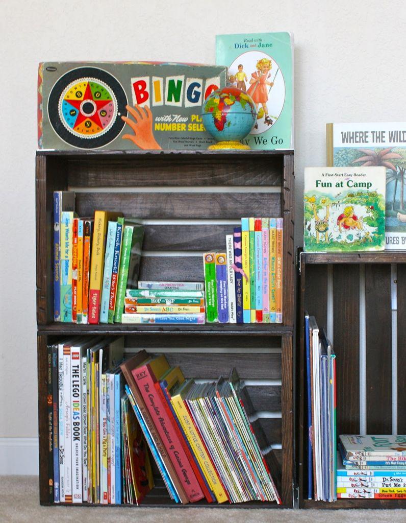 Caisse En Bois Pour Livre rangement livres enfants : nos idées pour ranger des livres