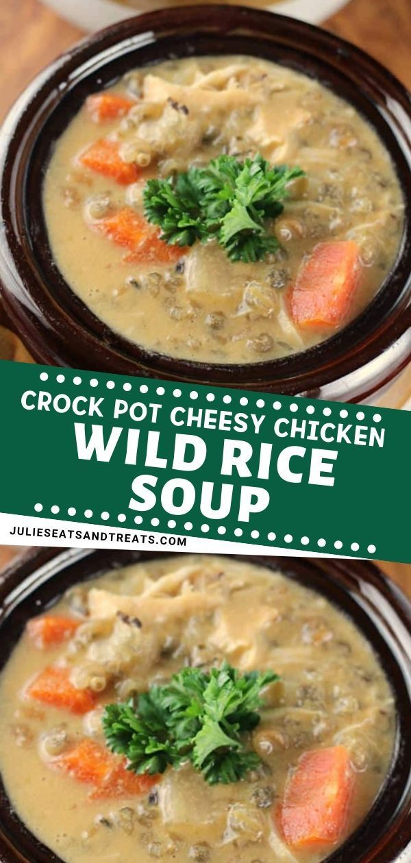 A delicious slow-cooked soup loaded with cheese, carrots, chicken and wild rice! Try