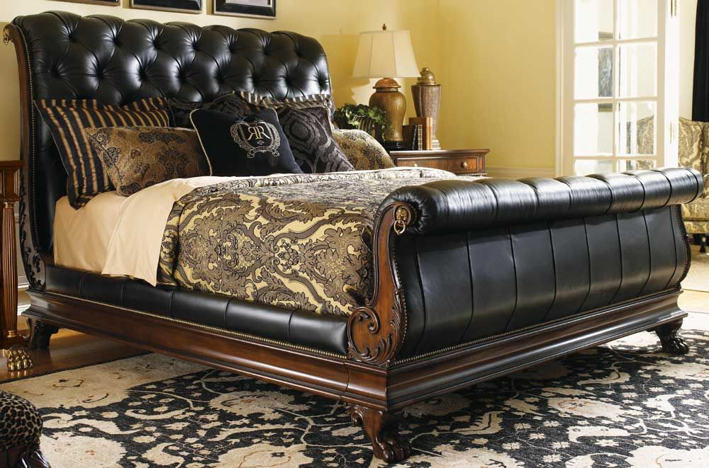 Lx 0452 189c Lexington Regents Row Coventry Leather Queen Sleigh