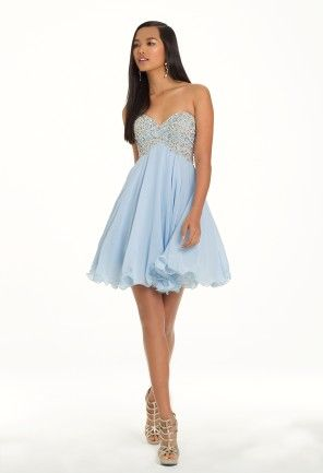 Short Party Prom Dress with Beaded Bodice from Camille La Vie and ...