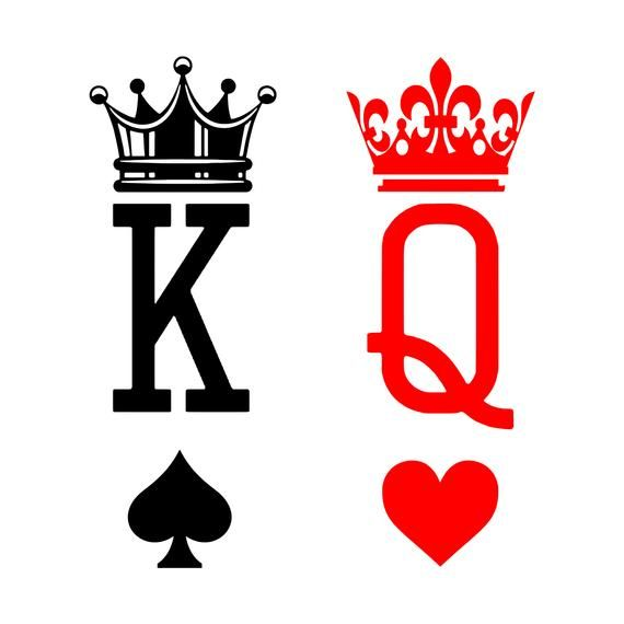 King Queen Svg Card Tattoo King Of Hearts Tattoo Queen Of Hearts Tattoo