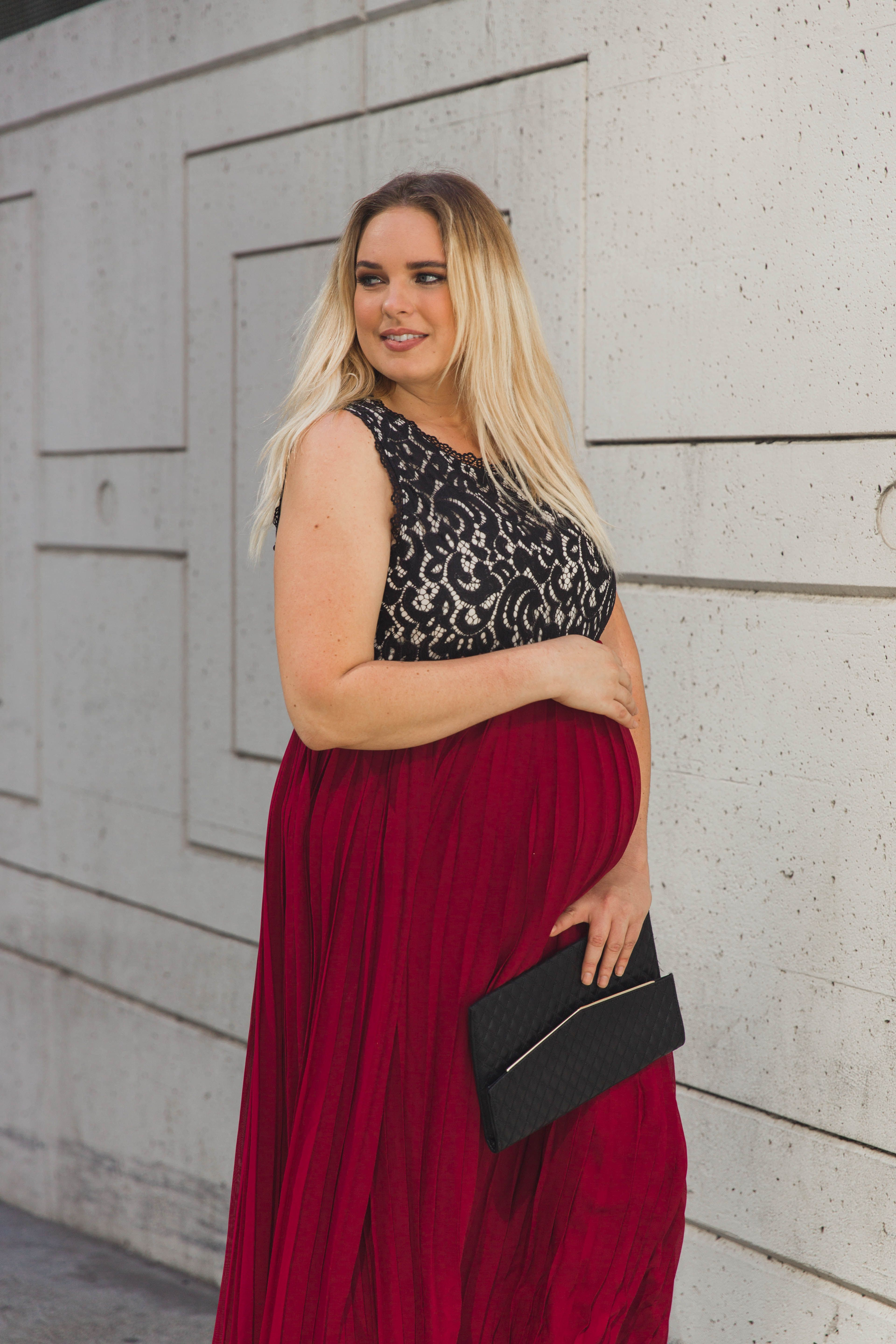 Burgundy pleated chiffon lace top plus maternity maxi dress burgundy pleated chiffon lace top plus maternity maxi dress ombrellifo Image collections