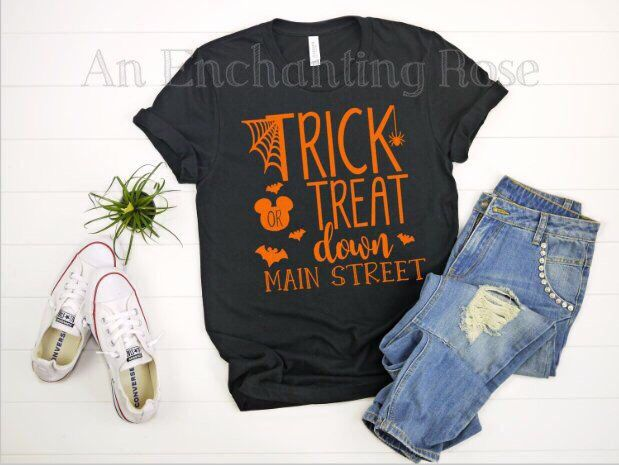 a153d931 Trick or Treat Down Main Street Shirt, Disney Halloween Shirt, Trick or Treat  Disney