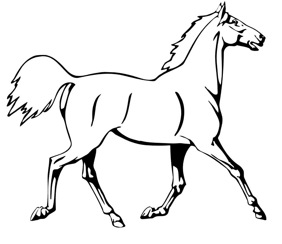 Planse De Colorat Si Fise Pentru Copii Calul Planse De Colorat Cu Animale Domestice Horse Coloring Pages Horse Coloring Puppy Coloring Pages