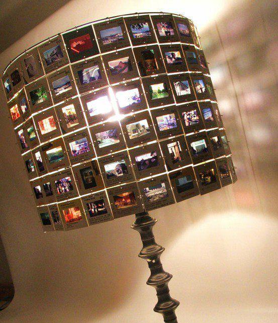 Lampenschirm Aus Alten Dias Foto Handwerk