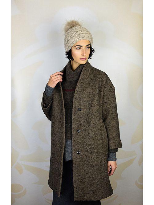 Jacket - Pomandere Cocoon Coat Dark Brown Sweater - Gary Graham ...