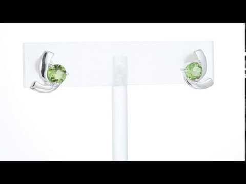 2 cts Round Cut Peridot Sterling Silver Earrings SE7586 by Peora Jewelry - http://videos.silverjewelry.be/earrings/2-cts-round-cut-peridot-sterling-silver-earrings-se7586-by-peora-jewelry/