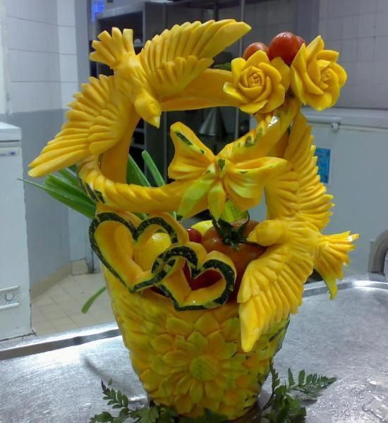 Food carving uploaded by user art pinterest