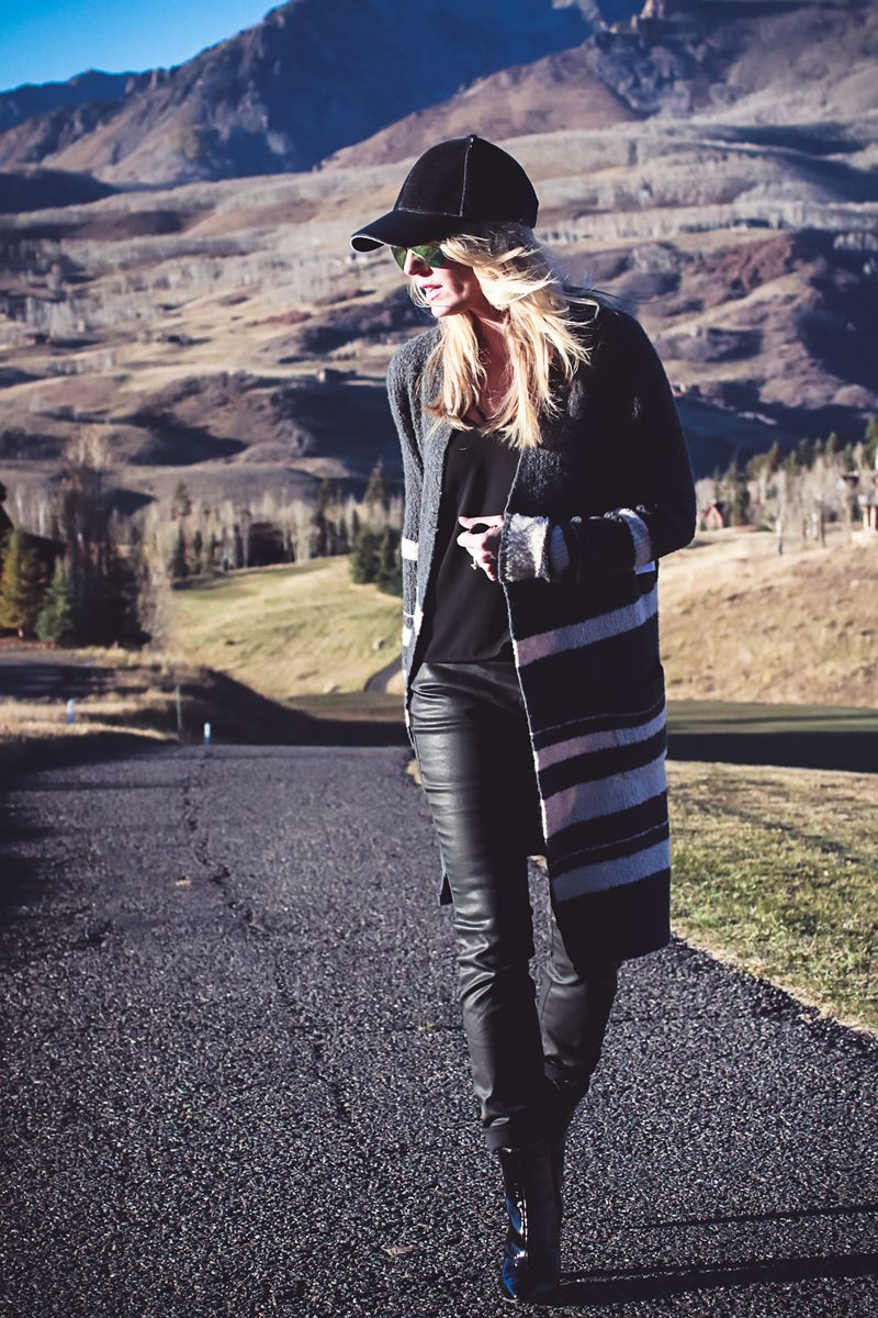 faux leather pants | Three Ways to Wear leather pants from Bloomingdales  with fashion blogger,