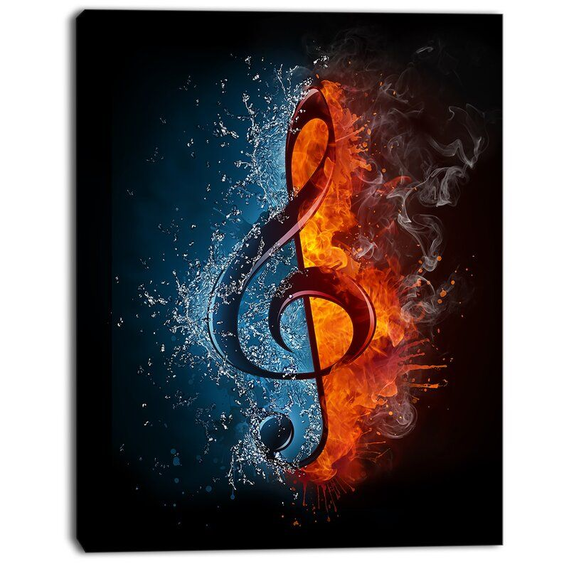 Treble Clef - Wrapped Canvas Graphic Art
