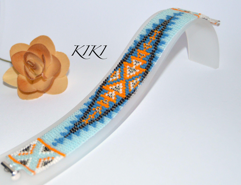 Arrowheads loom bracelet
