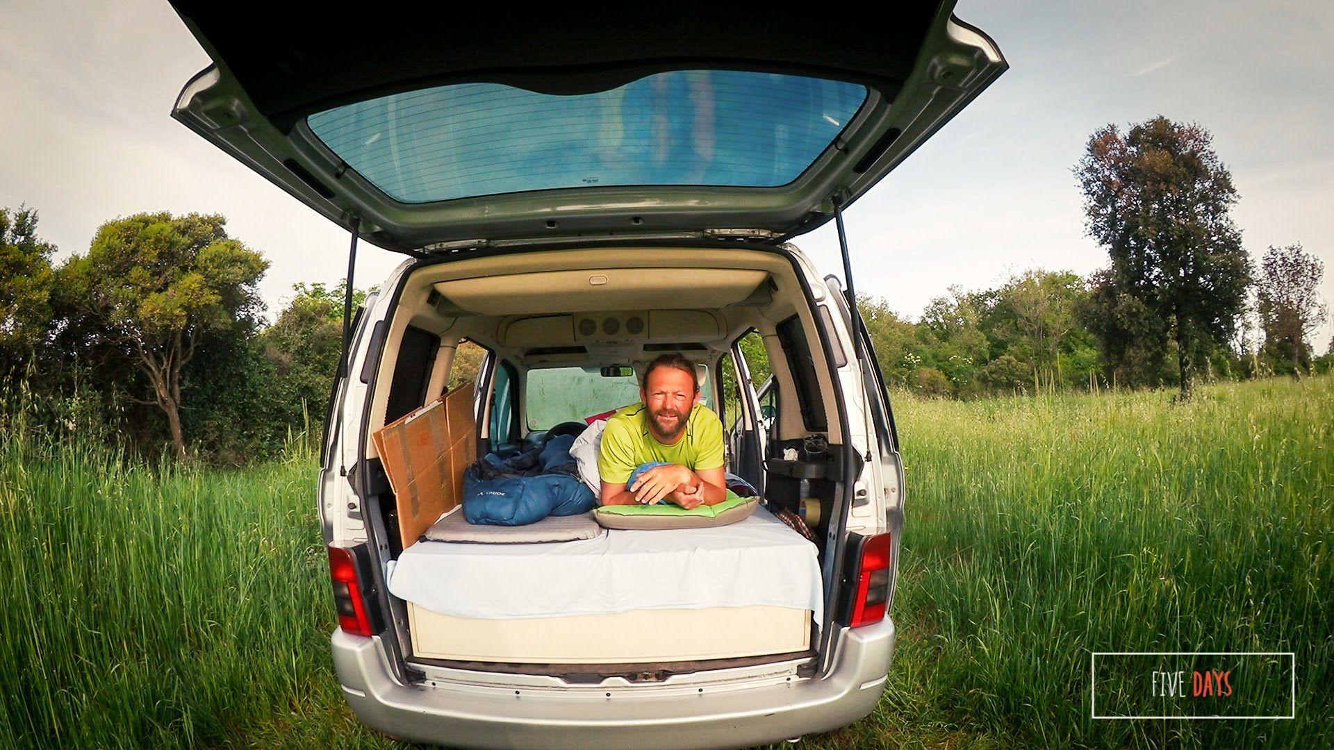 citroen berlingo zum minicamper umgebaut einbau bett. Black Bedroom Furniture Sets. Home Design Ideas