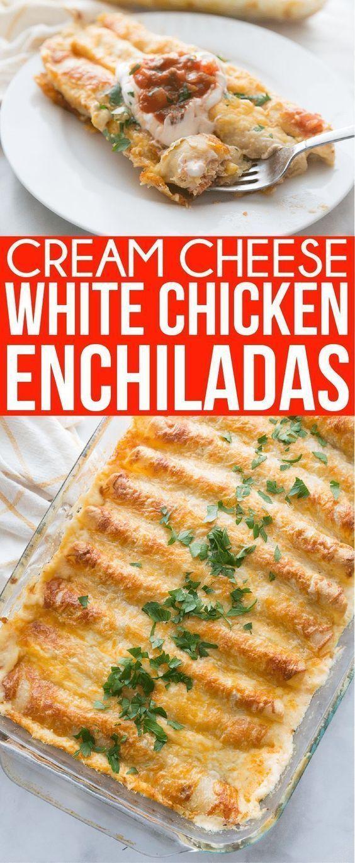 Cream Cheese White Chicken Enchiladas