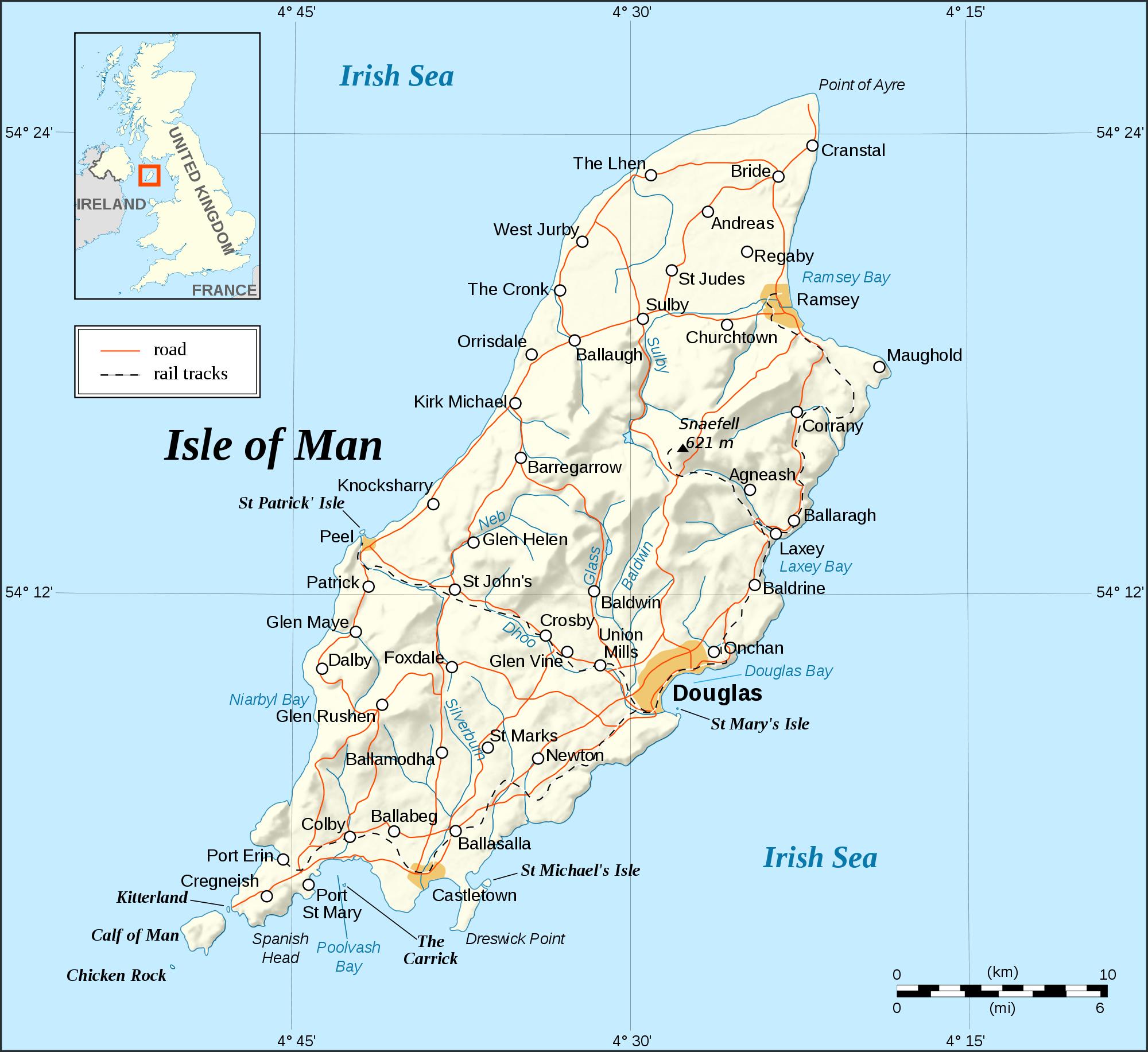 Isle of Man a selfgoverning British Crown dependency in the Irish