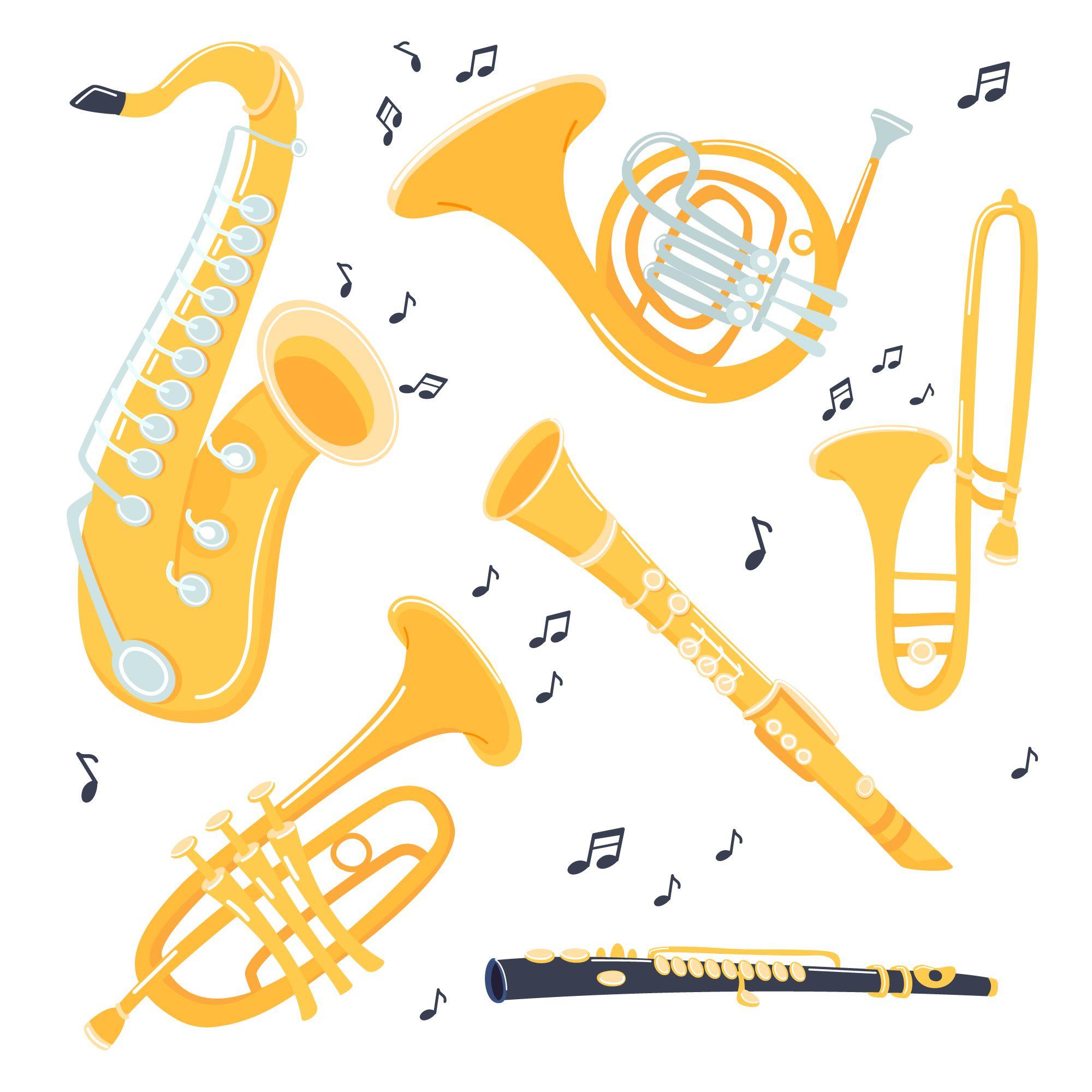 Music Clipart Brass Jazz Instruments Jazz Instruments Instruments Art Jazz Poster