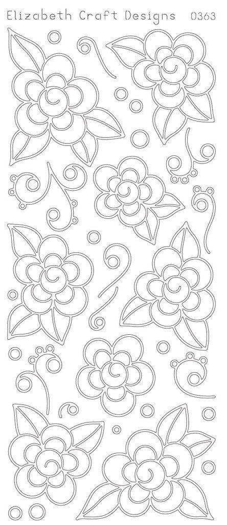 Flores para pintar | HUIPIL | Pinterest | Bordado, Patrones y ...