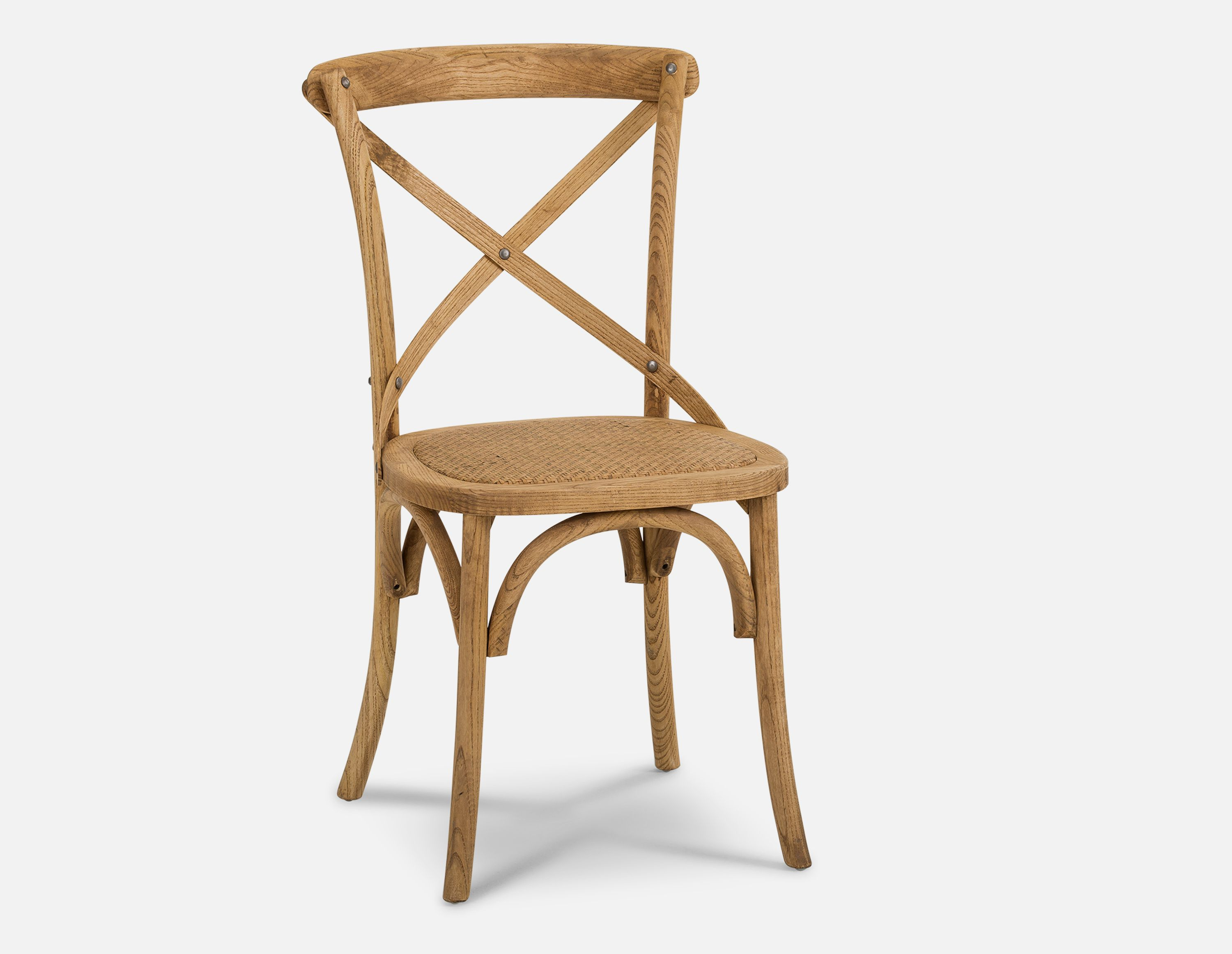 Oak Wood And Rattan Dining Chair Structube Cross Rattan Dining