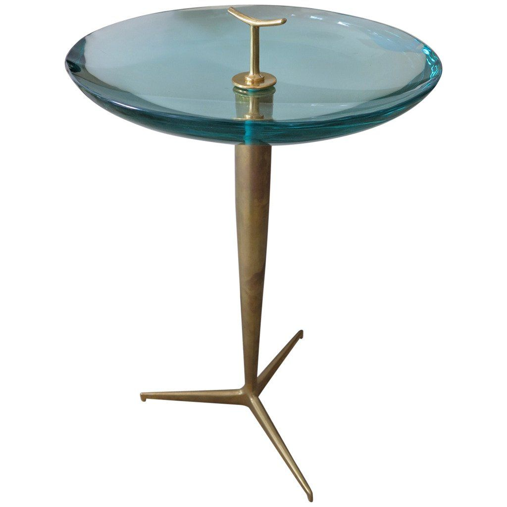Fontana Arte Style Occasional Table In Polished Brass And Concave Glass Occasional Table Modern Table Modern Side Table [ 1024 x 1024 Pixel ]