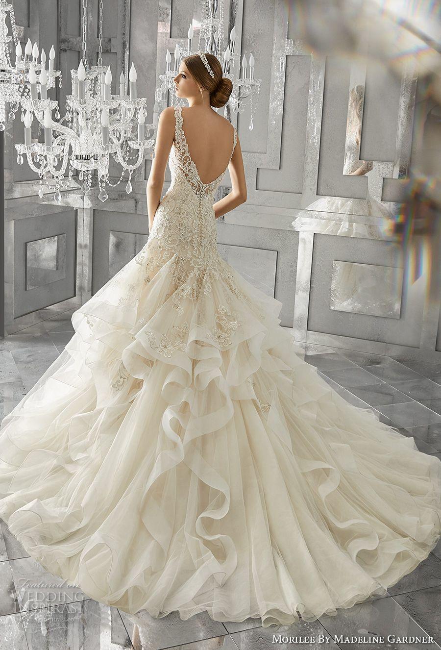 Morilee by madeline gardner fall wedding dresses chapel train