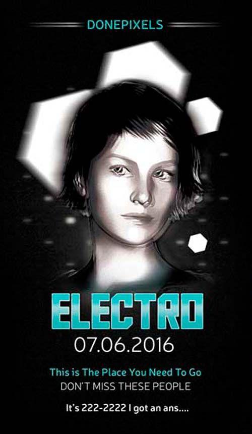 Free Electro Flyer PSD Template -   freepsdflyer/free - electro flyer