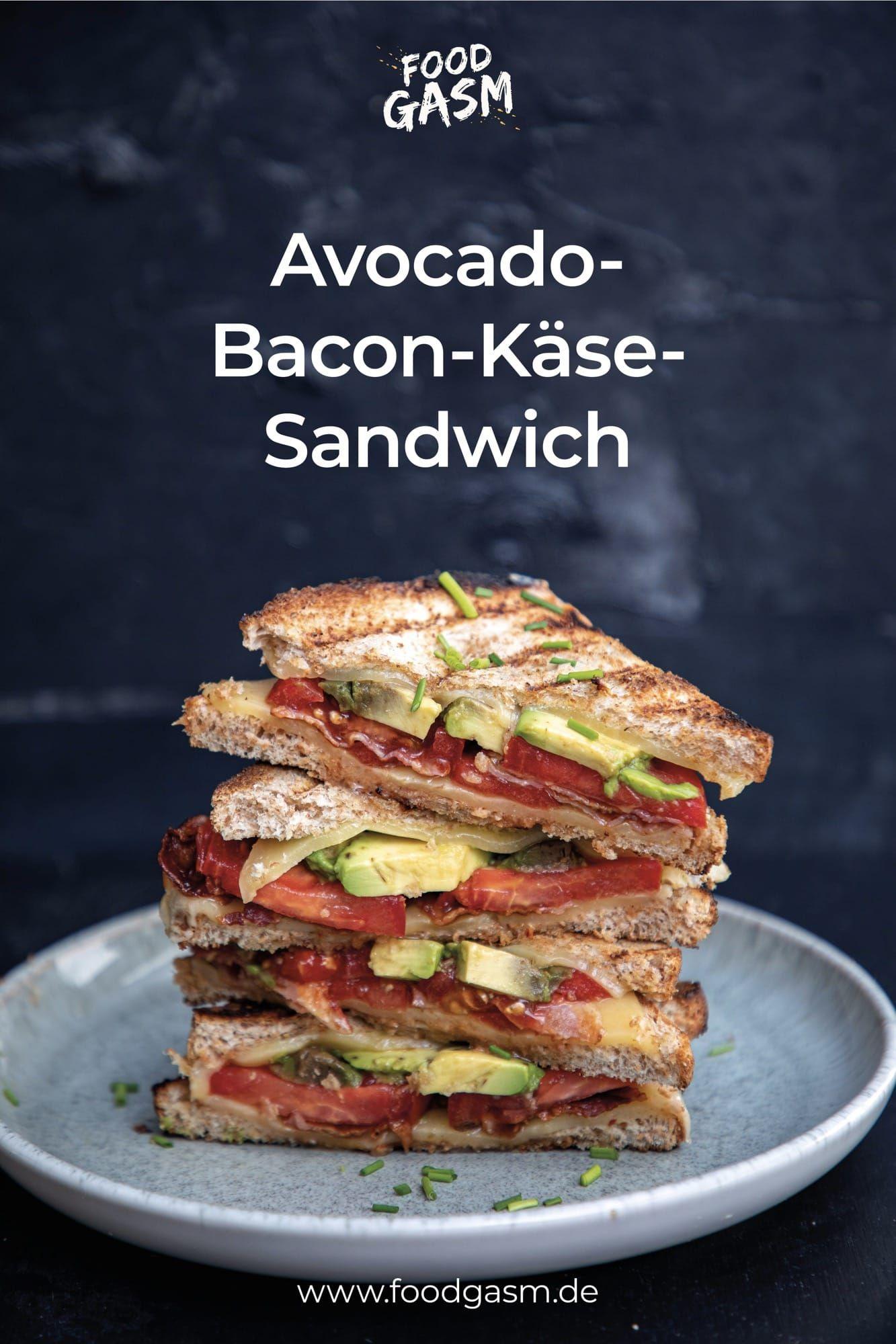 Avocado-Bacon-Käse Sandwich