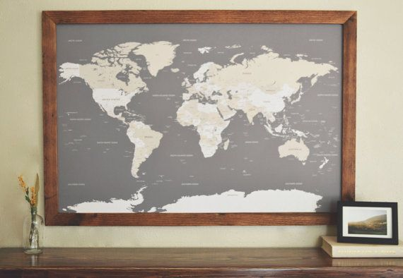 Push pin travel map world map framed world map world map push push pin travel map world map framed world map world map push pin world map wedding travel map valentines day gift gumiabroncs Images
