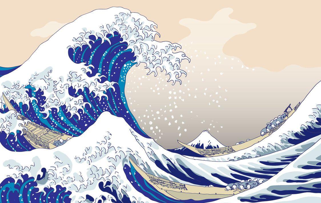 The Big Wave C 1829 32 Katsushika Hokusai Japan Desktop