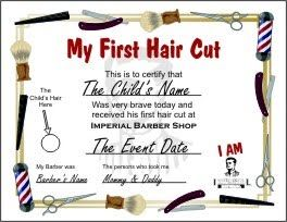 first haircut certificate template search results for my first haircut certificate printable