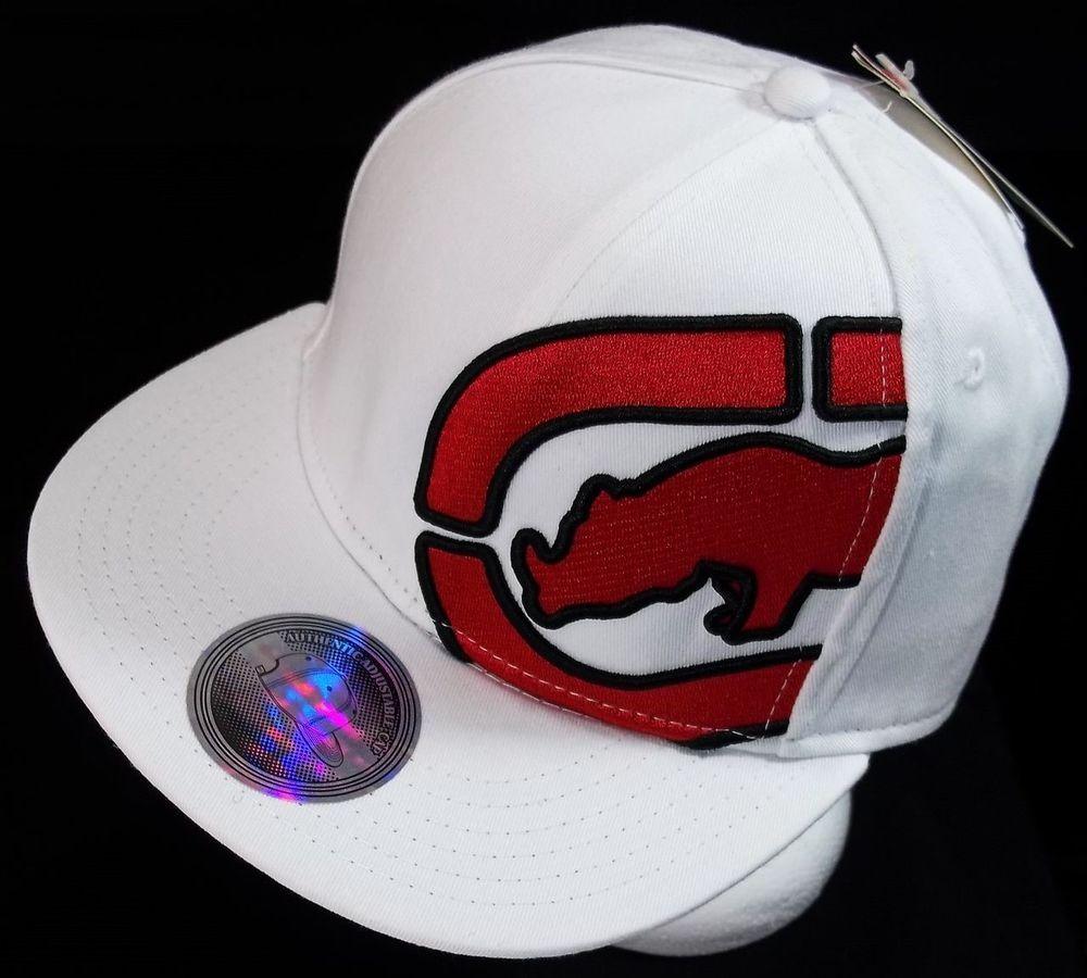 04af66b6dae ECKO UNLTD Mens Rhino Flat Bill Hat Baseball Cap One Size Adjustable  Snapback  EckoUnltd  BaseballCap