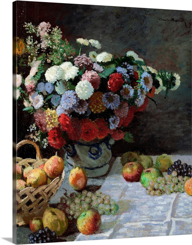 Fruits and Flowers un-stretched canvas
