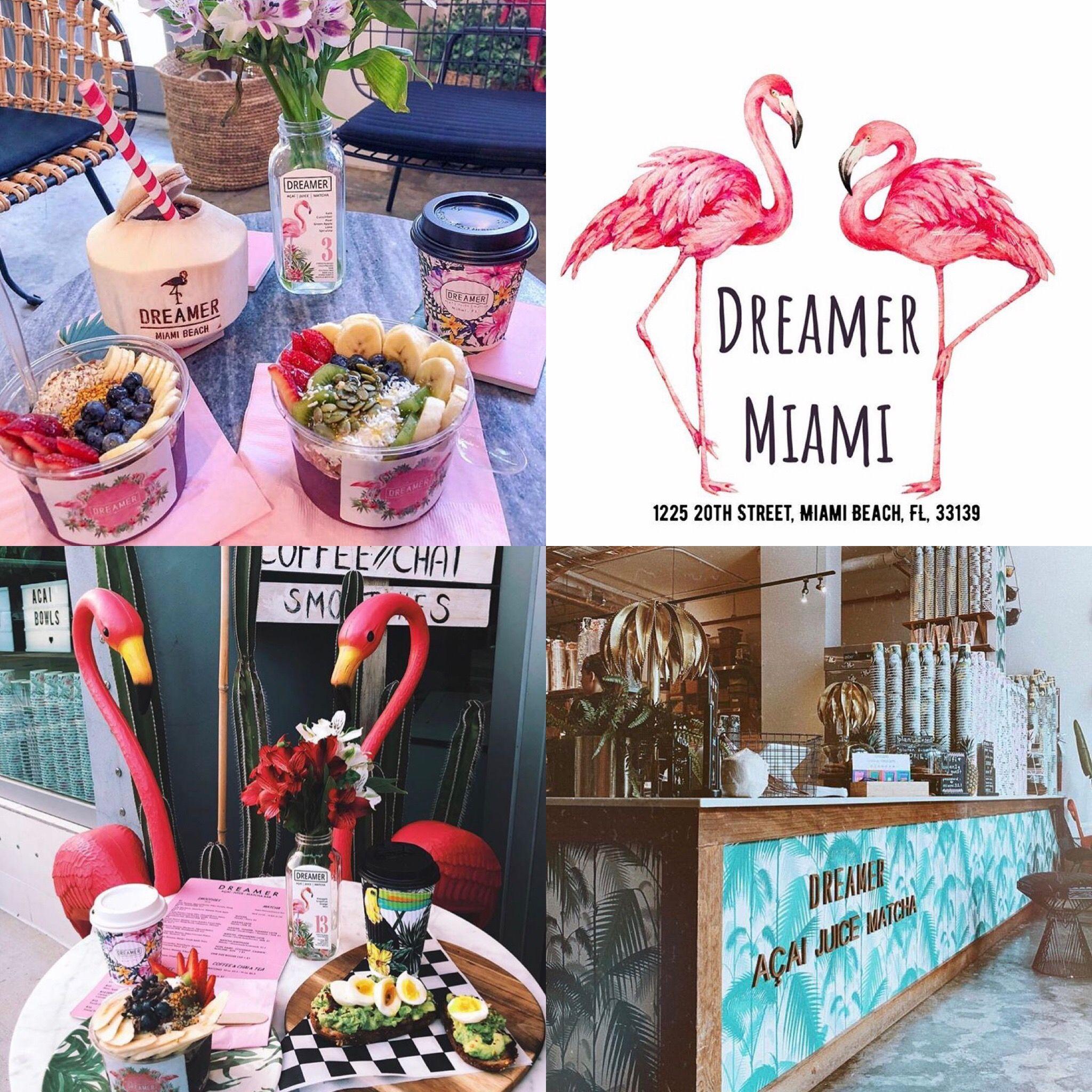 Miami Dreamer Acai Matcha Cafe Beach Cafe Matcha Cafe Miami Travel