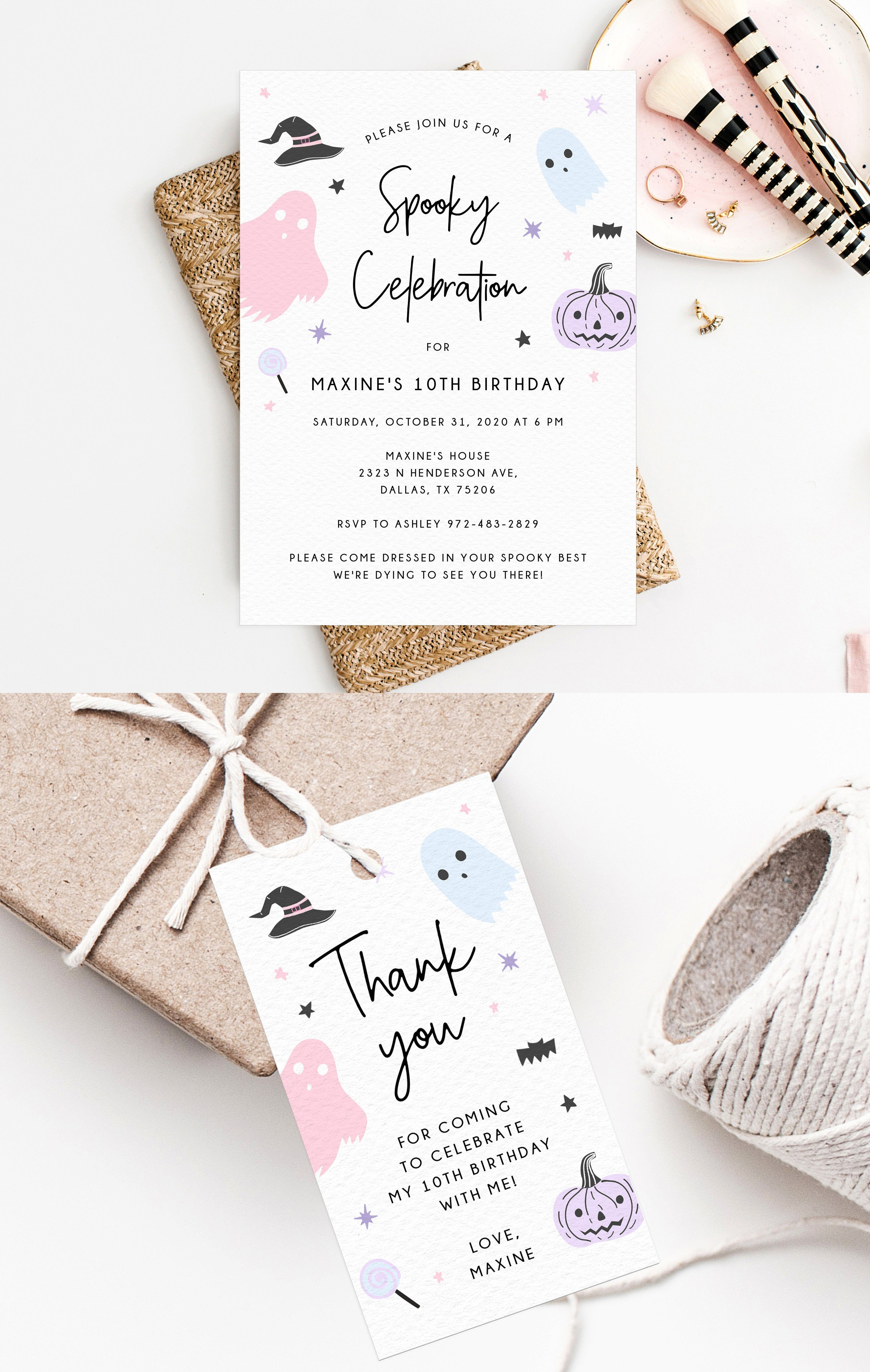 When Is Halloween Celebrated In Dallas, Tx 2020 Halloween Party Invitation Template, Printable Pastel Halloween